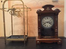 Small Antique German Clock with Stand in Spangdahlem, Germany