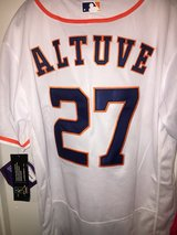 Altuve with custom MVP patch in Bellaire, Texas