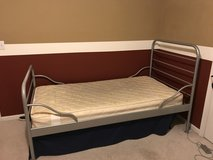 Twin Bed - Gray Metal - Mattress included in Sandwich, Illinois
