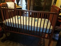 Crib and mattress in Beaufort, South Carolina