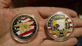 Challenge Coins Seal Team & 101 Airborne in 29 Palms, California