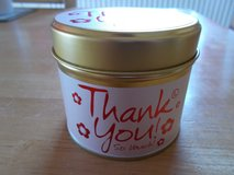 Lily Flame Thank You Candle Tin Brand New Burn 30-35 hrs in Lakenheath, UK