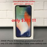Apple iPhone X 256GB Space Gray-New-Original,Unlocked Phone in Fort Hood, Texas