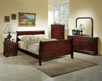 Montreal Bed Set - US QS & US KS - see VERY IMPORTANT below - Pkg- bed-dresser-mirror--night stand in Shape, Belgium