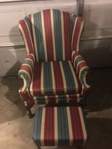 Striped color wing back with stool in Fort Campbell, Kentucky