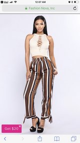 Fashion nova pants Size L in Okinawa, Japan