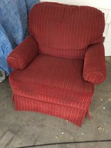 Red chair in Fort Riley, Kansas