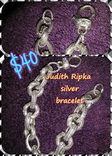Judith Ripka silver bracelet in Cherry Point, North Carolina