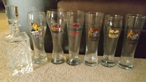 Set of beer glasses in Fort Hood, Texas