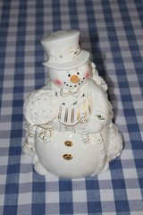 Snowman cookie jar in Cherry Point, North Carolina