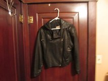 concepts black leather jacket size women's S in Sugar Grove, Illinois