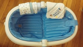 baby bath tub with towel and wash cloths in Fort Leonard Wood, Missouri