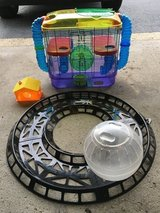 Hamster cage, ball, track, & house in Naperville, Illinois