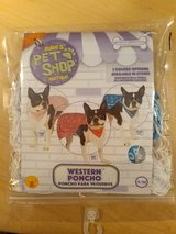 Rubies Pet Shop Boutique Dog Costume S/M Western Poncho Blue NEW in Yucca Valley, California