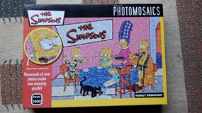 Simpsons jigsaw puzzle in Lakenheath, UK
