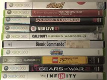 10 X Box 360 Games see details in Fort Knox, Kentucky