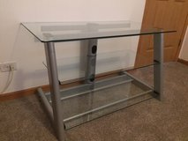 TV Stand - 3 tier - Thick glass shelves in Chicago, Illinois