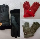 Genuine leather with 100% lambskin (3 colors available: black, red, olive green) in Stuttgart, GE