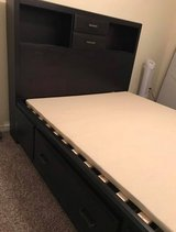 Queen bed with drawers in Baytown, Texas