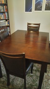 9 piece dark cherry transitional dining table in Wilmington, North Carolina