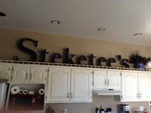 Steketee,s sign 10 feet long was in downtown store in Grand Rapids, Minnesota
