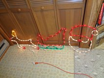 Santa Claus-Sleigh-Reindeer 3 pc Display Lights Set In/Outdoor in Schaumburg, Illinois