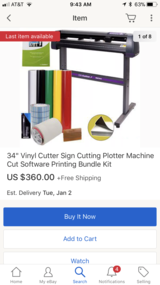 "34"" vinyl cutter / plotter only in Spring, Texas"