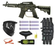 US ARMY Alpha Black Tactical Tippmann Paintball Mega Gun Set with 1500 paintballs in Alamogordo, New Mexico