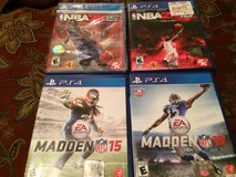 PS4 NBA2K15 &16 and Madden 15 & 16 in Moody AFB, Georgia