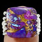 New - Purple Copper Turquoise Ring - Size 6 in Alamogordo, New Mexico