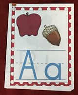 A-Z Alphabet Colored Paper w/Pics in Okinawa, Japan