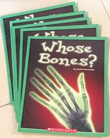 5 Scholastic Guided Reading Books Whose Bones? in Okinawa, Japan