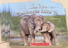 6 Scholastic Guided Reading Books Elephants Like To... in Okinawa, Japan