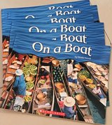 6 Scholastic Level A Guided Reading Books On A Boat in Okinawa, Japan