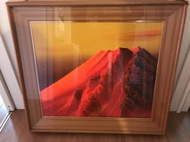 3-D Japanese Art Painting Mountain Fuji Oringinal in Okinawa, Japan