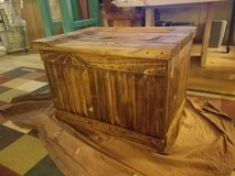 Rustic Fire Wood Box with Seat Lid -Handcrafted in Alamogordo, New Mexico