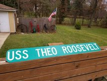 Old Roosevelt Street Sign double sided Man Cave in St. Charles, Illinois