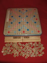 Scrabble Deluxe Edition Rotating Board Game in Bolingbrook, Illinois