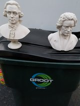 STATUES OF MOZART & BEETHOVEN in Westmont, Illinois