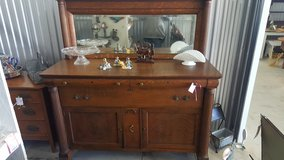 Tiger oak bearclaw buffet with mirror in Camp Lejeune, North Carolina