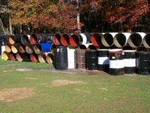 burn barrel in Camp Lejeune, North Carolina