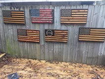 wooden flags in Columbus, Georgia