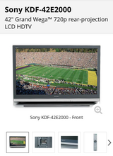 "Sony 42"" Lcd HD TV in Lockport, Illinois"