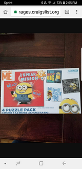 New Despicable Me 4 pack puzzle in Schaumburg, Illinois