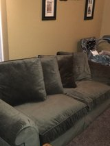 OLIVE Green MICRO-FIVER COUCH LIKE NEW in Fort Campbell, Kentucky
