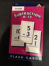 Subtraction flash cards in Naperville, Illinois