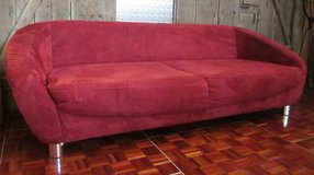 Red Microfiber Couch in Ramstein, Germany