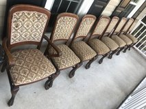Antique 8 Oak Big Paw foot Chairs (1 Captain) Late 1800's in Cherry Point, North Carolina