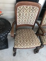 8 Oak Big Paw foot Chairs (1 Captain) Late 1800's in Cherry Point, North Carolina