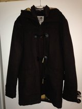 men's brown wool duffel coat L in Kaneohe Bay, Hawaii